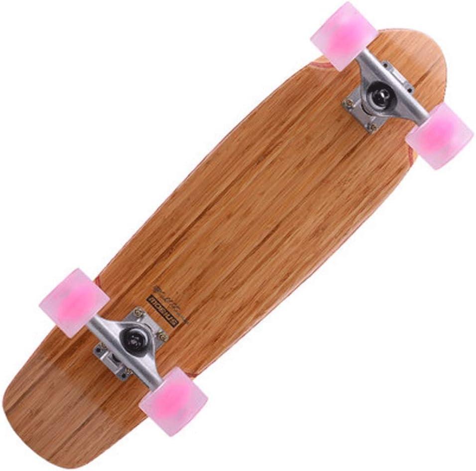 YHDD ストリートビッグフィッシュプレートプロフェッショナルメープルロードスケートボードティーン初心者ウォーキング竹と木のフィッシュプレート (色 : A) A