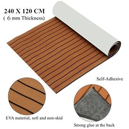 Mophorn 945 X 47 Inch Eva Foam Faux Teak Decking Sheet Non Slippery