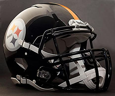 17edecb2b88 Image Unavailable. Image not available for. Color  Riddell Speed Pittsburgh  Steelers NFL Replica Football Helmet ...