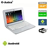 G-Anica® Chromebook 10-inch Full-HD Laptop (WIFI, Webcam, Dual-Core,512MB RAM, 4GB ROM, HD 800 x 480) with Android 4.4.2 Netbook-Silver