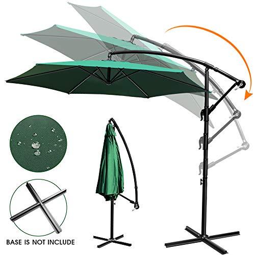 Topleader Patio Garden Umbrella 9 ft Hanging Umbrella with Crank and 6 Ribs Market Umbrella for Outdoor