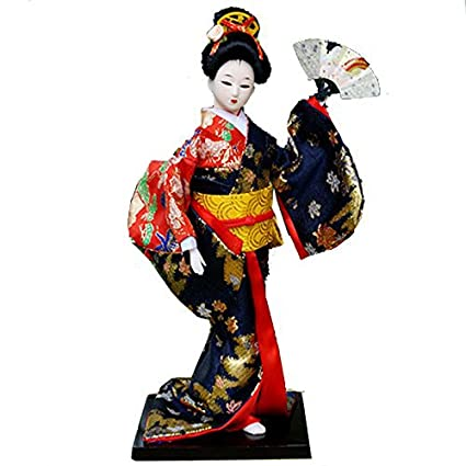 Amazon com: 12'' Tall Vintage Japanese Geisha Doll Maiko