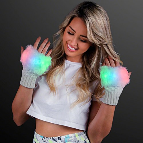 Led Light Rave Gloves in US - 8