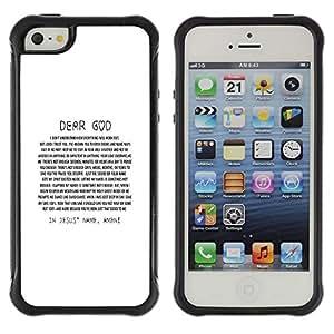 LASTONE PHONE CASE / Suave Silicona Caso Carcasa de Caucho Funda para Apple Iphone 5 / 5S / BIBLE Dear God