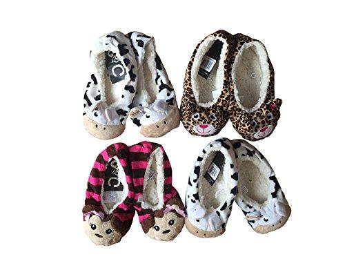 Suave Habitación Pantuflas para Mujer, mujer Cozy Babba Zapatillas Para El Hogar - Estampado Leopardo Diseños - Tallas GB 6-8.5, Europeo tallas 39.5-42.5 - Mujer, Estampado Oso, Tallas EU 39.5-42.5