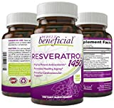 Cheap RESVERATROL1450-90day Supply, 1450mg per Serving of Potent Antioxidants & Trans-Resveratrol, Promotes Anti-Aging, Cardiovascular Support, Maximum Benefits