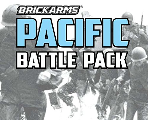 BrickArms Pacific Battle Pack for World War 2 Minifigures -14 pc Exclusive Set (Pack Battle Wars)