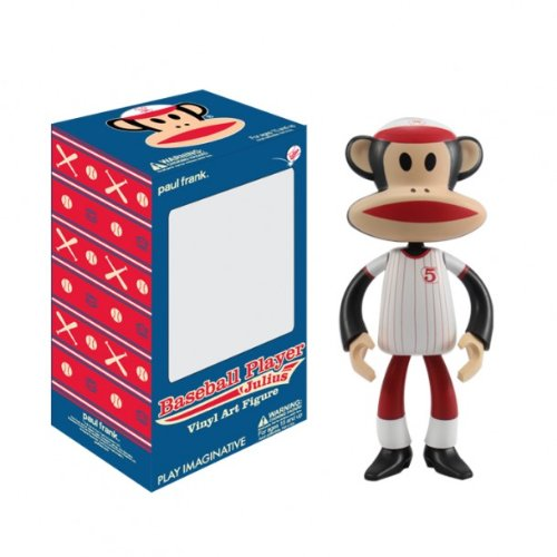 Paul Frank Julius Vinyl Art Figure - Baseball Player Julius - Julius Baseball