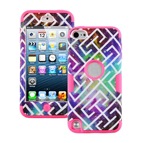 Touch 5,iPod Touch5, Case, iPod touch 5 Case Galaxy Pattern, MagicSky High Impact Armor Case Cover Protective Case for Apple iPod Touch 5 5th Generation - 1 Pack(Hot Pink)