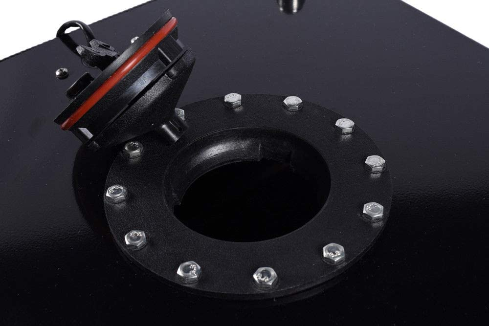 Lightweight Aluminum Polished Race Street Drift With Level Sender Black 10-Gallon Universal Fuel Cell Gas Tank