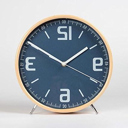 The Clock - Relojes de sobremesa de madera para salón o sala de estar, para