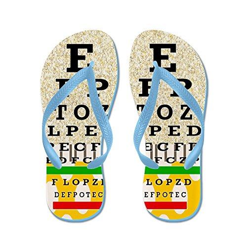 Cafepress Eye Chart Ff 6.png - Infradito, Sandali Infradito Divertenti, Sandali Da Spiaggia Blu Caraibico