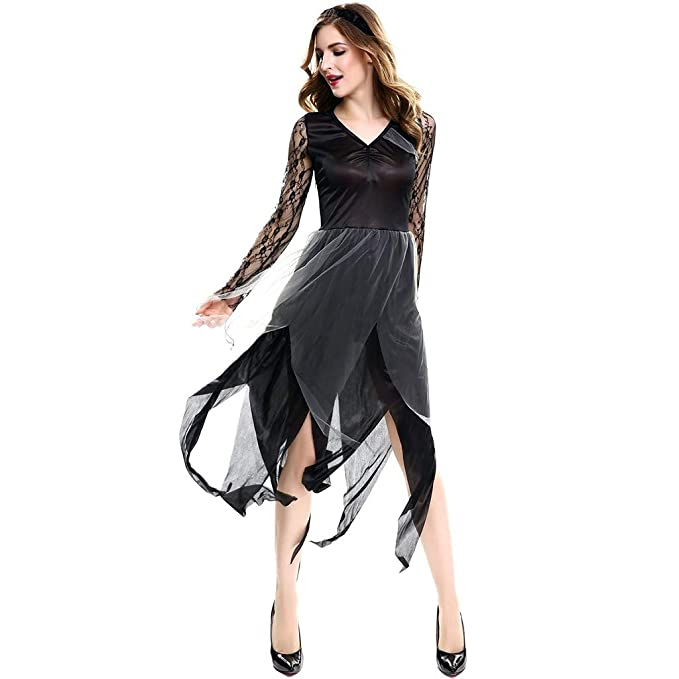 FRAUIT Mujer Vestido,Vestido de Castillo Gótico para Mujer ...