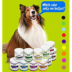 Owpawz Dog/Pet Hair Dye Gel Bright, Fun Shade, Semi-Permanent and Permanent Dye, Completely Non-Toxic Safefor Dogs, Multiple Colors Available 56