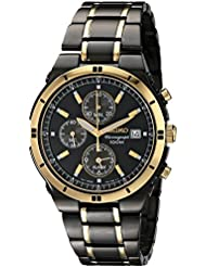 Seiko Mens SNAA30 Stainless Steel Two-Tone Watch