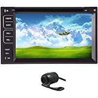 Christmas Sale!!! Deck Free Rear Camera In AUX Dash Double Din 6.2 inch Motorized Touch Screen Detachable Touchscreen Car DVD CD USB FM/AM SD MP4 MP3 Player Receiver Auto with Remote Control F