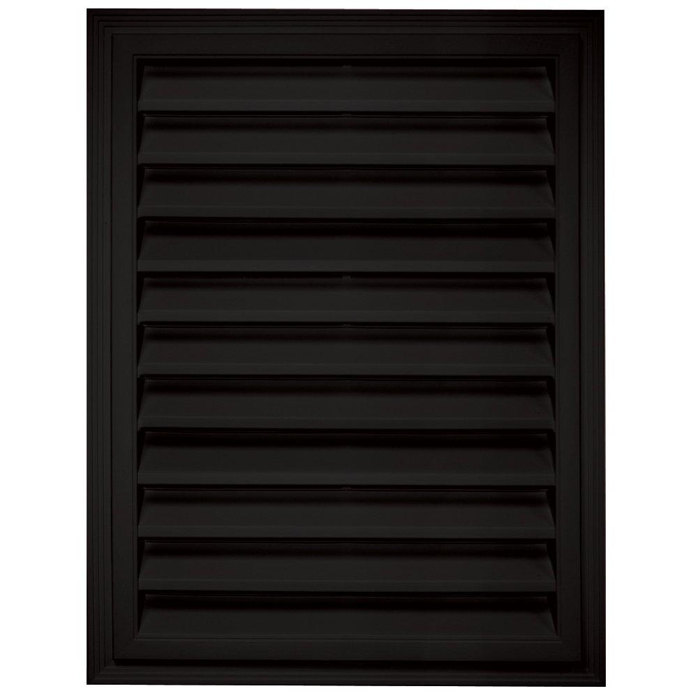 Builders Edge 120061824002 18 x 24 Rectangular Vent 002, Black The TAPCO Group - DROPSHIP
