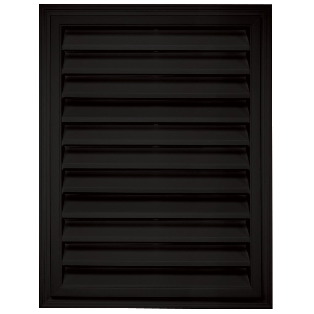 Builders Edge 120061824002 18'' x 24'' Rectangular Vent 002, Black