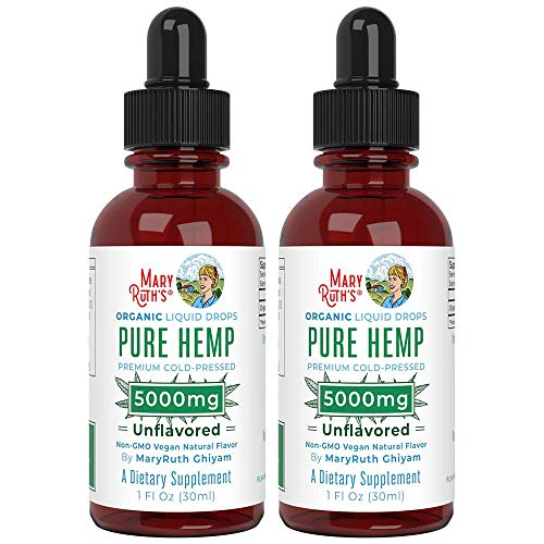 2-Pack-Organic-Pure-Hemp-Oil-5000mg-by-MaryRuths-for-Pain-Stress-Relief-Powerful-for-Ingestible-Topical-Use-Non-GMO-Vegan-Plant-Based-Unflavored-1-oz
