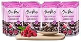 Tru Fru Dark Chocolate Dipped Freeze-Dried Fruit, 12-Pack Grab & Go, Raspberry