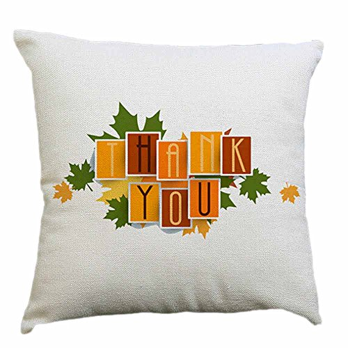 Happy Thanksgiving Day Throw Pillow Cases Cafe Sofa