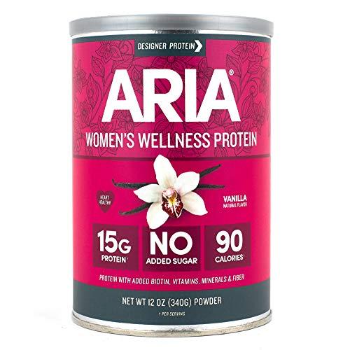- Designer Protein Aria, Vanilla, 12 Ounce, Women's Wellness Protein Powder