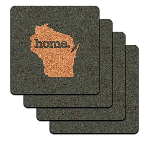 Wisconsin Home State Profile Coaster