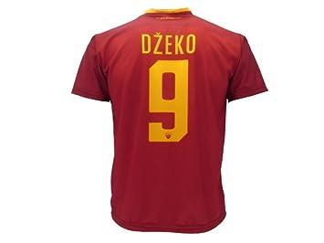 Camiseta de fútbol para niños o adolescentes, Roma, Dzeko, 9, réplica autorizada, 2017-20108: Amazon.es: Deportes y aire libre