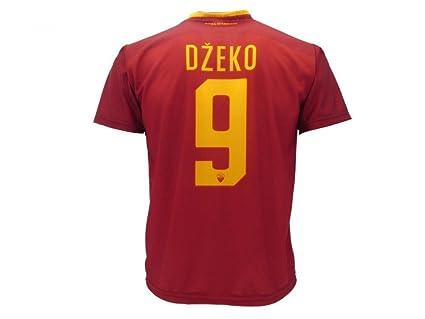 Camiseta de fútbol para niños o adolescentes, Roma, Dzeko, 9, réplica autorizada