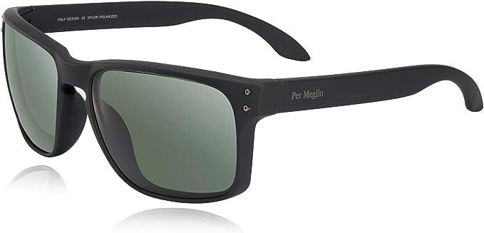 Mens Classic Black Frame STYLE Polarised Wayfare Designer SUNGLASS PERFECT Wrap