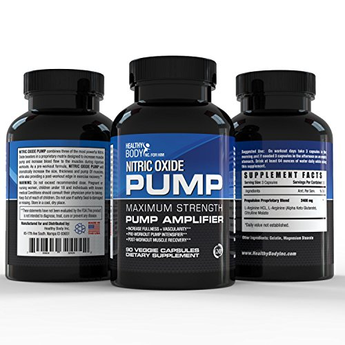 Nitric Oxide Pre Workout Booster for Accelerated Gains in Strength, Size, Pump Intensifier and Post workout Muscle Recovery