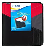 Mead Zipper Binder with Expanding File, 3 Ring Binder, 1-1/2'', Color Selected For You May Vary (29024)