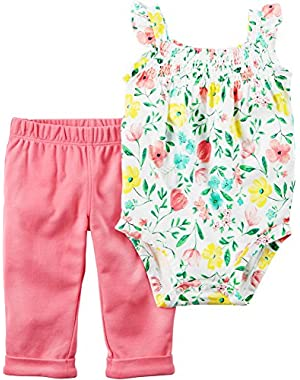 Baby Girls' 2-Piece Bodysuit And Pants