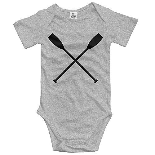 woonmo Unisex Newborn Bodysuits Crossed Oars Black Girls Babysuit Short Sleeve Jumpsuit Sunsuit Outfit Newborn Ash