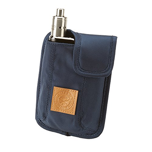 Vape Carrying Case for Travels - Secure, Organized, Premium Vapor Bag - Fits Large Mechanical Box Mods, e-Juice, Battery, Tank Holder & Accessories - Wick and Wire (El Cajon Blue) ()