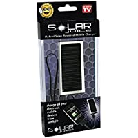 As Seen on TV Solar Juice Universal Portable Solar Cell Phone Charger - Retail Packaging - Silver