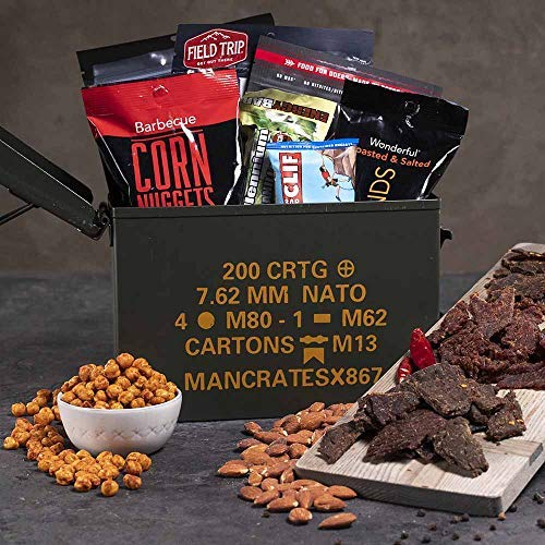 Man Crates Premium Jerky Ammo Can - The Ultimate Gift for Meat Lovers - Includes 3 Beef Jerky Flavors, Gourmet Almonds, Corn Nuggets And More - Ships In A Glorious, Steel Ammo Can He'll Love by Man Crates (Image #2)