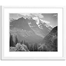 """Gallery Direct In Glacier National Park by Ansel Adams Artwork on Paper with White, Clean and Simple Frame, 35"""" X 30"""""""