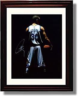ddae7b42600 Framed Stephen Curry  30 Autograph Replica Print - Golden State Warriors
