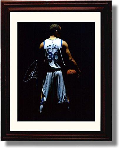 Framed Stephen Curry #30 Autograph Replica Print - Golden State Warriors