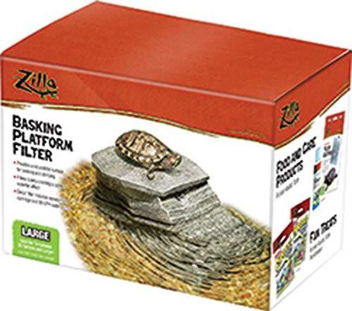 Zilla Reptile Habitat Décor Basking Platform Filter, Large, 20G+