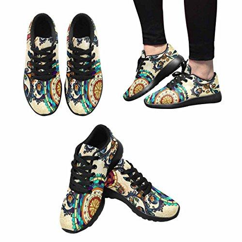 Scarpe Da Corsa Trail Running Da Donna Jogging Leggero Sportivo Da Passeggio Sneakers Sportive Floreali Decorative Paisley Multi 1
