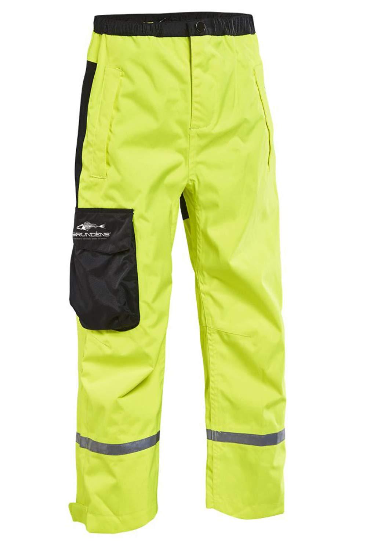 Grundens Gage Kids Waterproof Breathable Trouser Pants, Hi-Vis Yellow, 16 yr