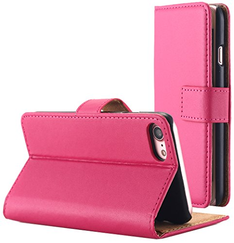iPhone 8/iPhone 7 Case, AICase Leather Wallet Case [Magnetic Closure] [Credit Card Holder] Flip Book Design Stand Folio Protective Cover Case for Apple iPhone 8/iPhone 7(Rose)