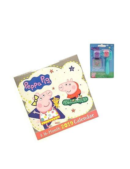 Calendar 2019-16 Academic Amazon.: Peppa Pig 2019 16 Month Calendar with Peppa Pig