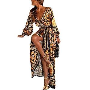 Vestidos De Cóctel Africano Bohemio De Manga Larga Casual Invierno De Fiesta Maxi Vestido para Mujer | DeHippies.com