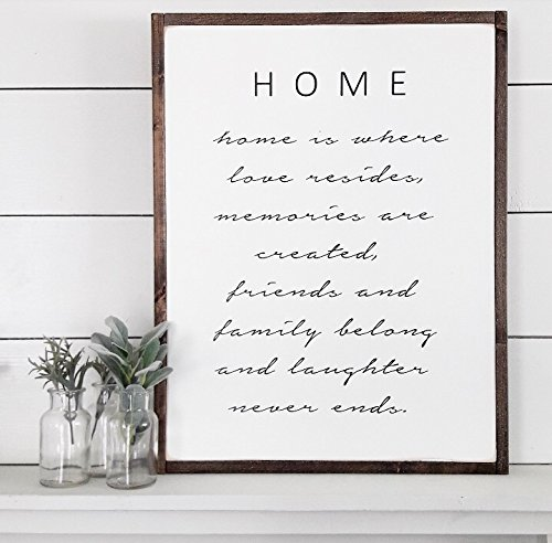 Amazon HOME Decor Love Quotes Farmhouse Wood Signs Enchanting Quotes About Friends Being Family