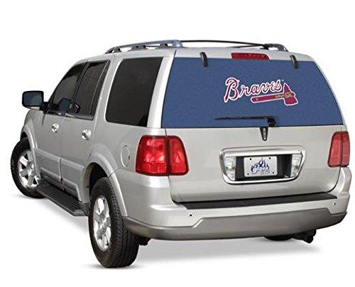 Glass Tatz Atlanta Braves MLB Logo Rearz See Thru Back Windshield Decal