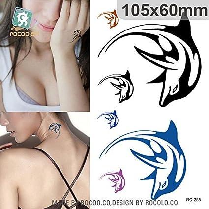 Tatuaje pegatinas Delfín: Amazon.es: Belleza