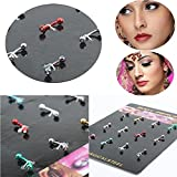Sumanee Tongue Jewelry Stainless Steel Ear Nose Lip Body Multicolor Piercing Studs
